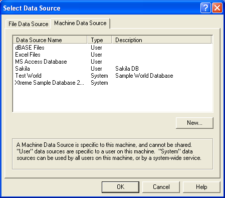 Linking Microsoft Access tables to MySQL tables, choosing a DSN